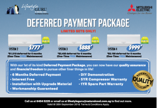 First of its kind Unique Aircon Deferred Payment Package (DPP) for new BTOs!