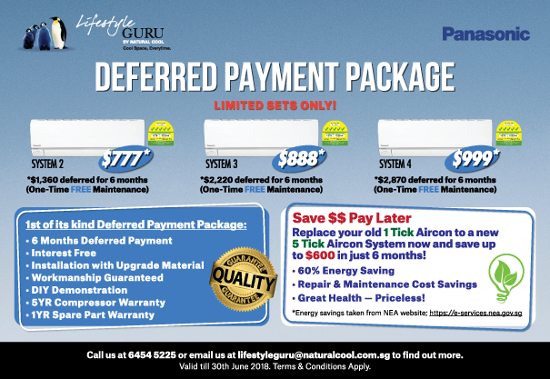 First of its kind Unique Aircon Deferred Payment Package (DPP) for old HDB flats!