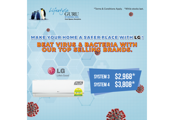 Beat Virus & Bacteria With LG Today!