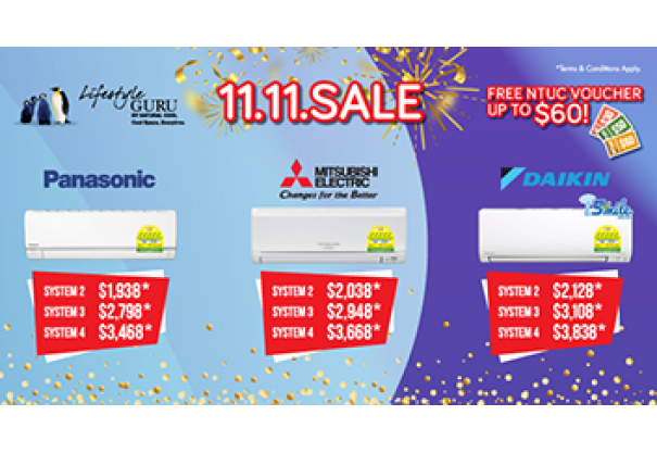 11.11 Big Aircon Sale 2019 Is Here!