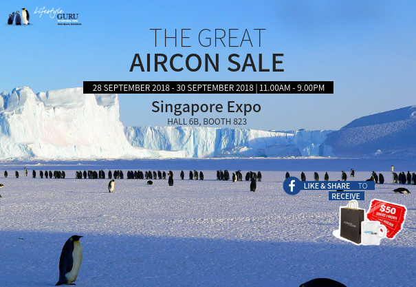 The Great Aircon Sale @ Singapore Expo Hall 6