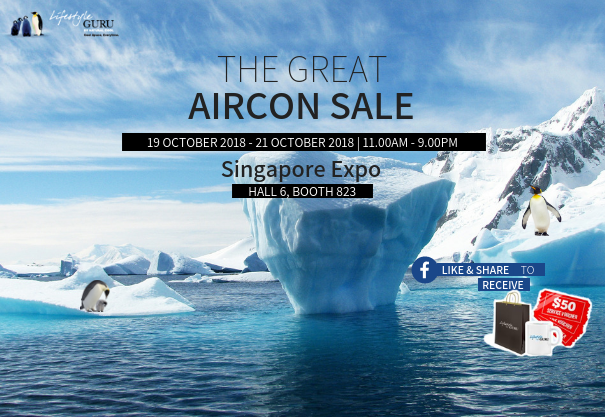 The Great Aircon Sale @ Singapore Expo Hall 6 Booth 823