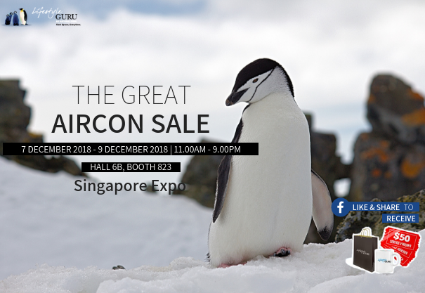 The Great Aircon Sale @ Singapore Expo Hall 6B Booth 823