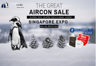 The Great Aircon Sale @ Singapore Expo Hall 6A Booth 814